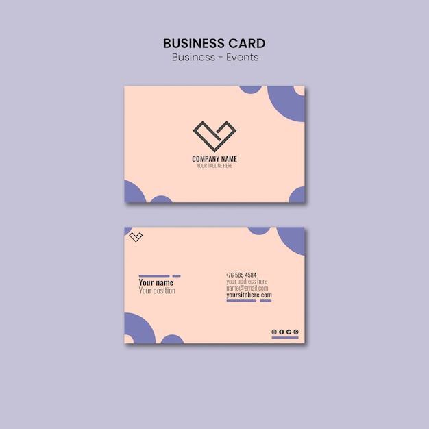 Business card design for template Free Psd