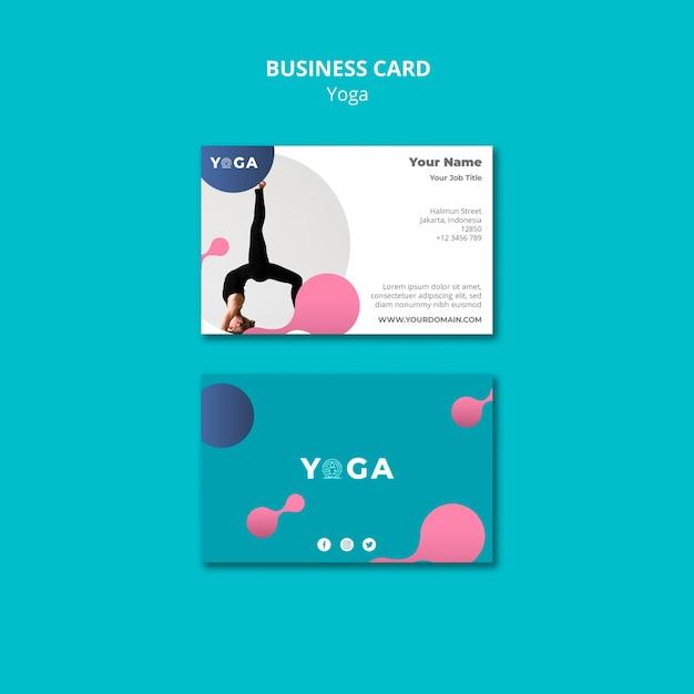 Business card design yoga Free Psd