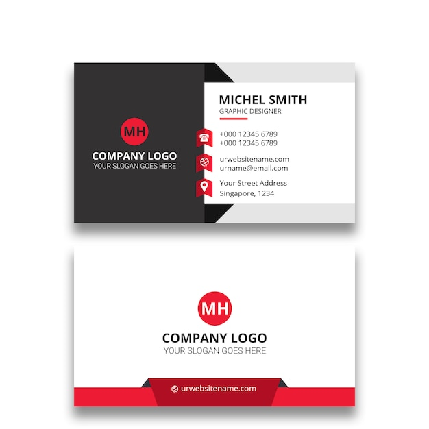 Business card design Premium Psd
