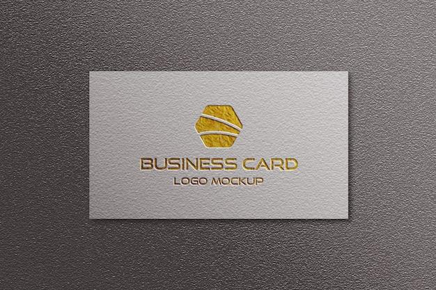 Визитная карточка логотип макет Premium Psd