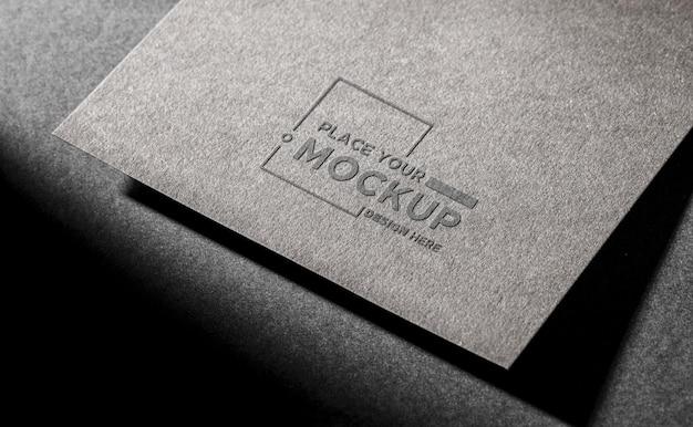 Макет визитки на темном фоне Premium Psd