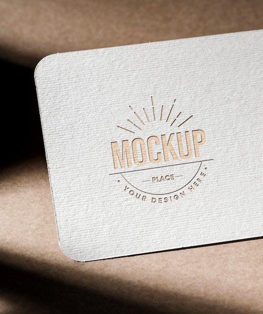 Business card mock-up with texture Free Psd