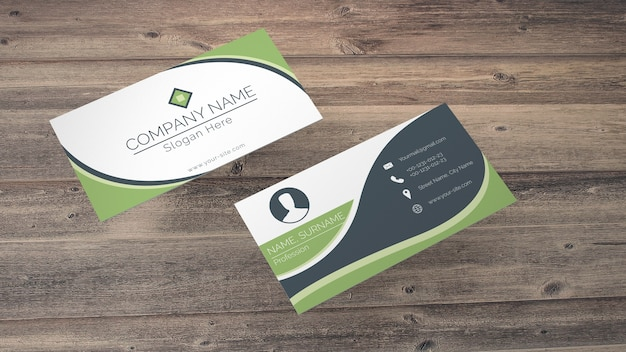 Business Card Mockup In Eco Style Psd File Free Download