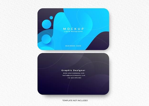 액체 디자인의 명함 모형 무료 PSD 파일