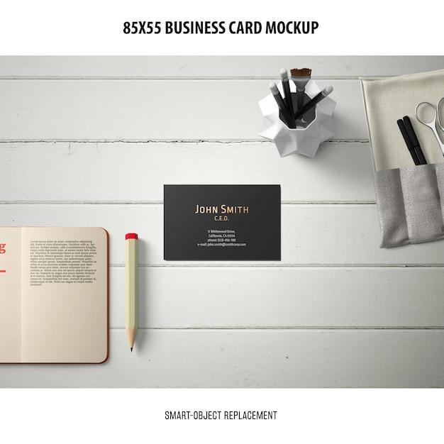 Визитная карточка макет Бесплатные Psd