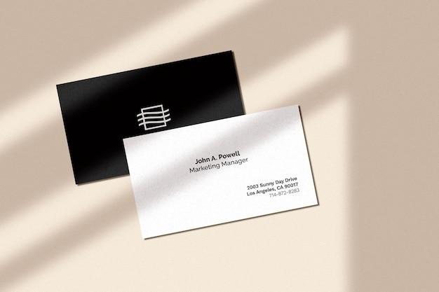 Макет визитной карточки Бесплатные Psd