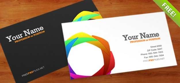 Business Card PSD Template Free Psd