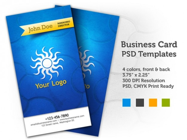 business card psd templates front back psd file free download