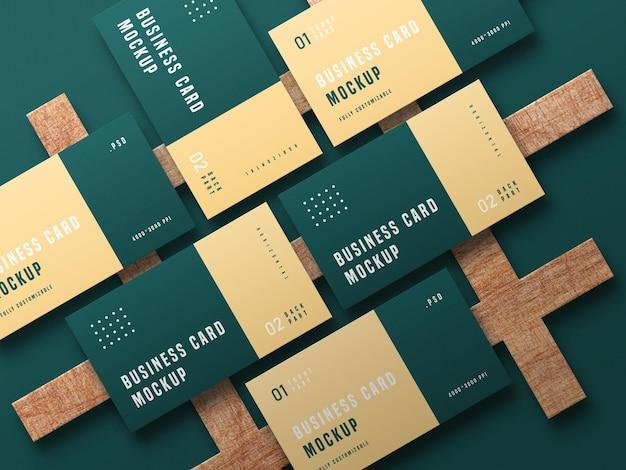 Макет набора визиток Бесплатные Psd