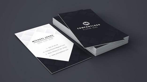 ビジネスカードのスタックモックアップ 無料 Psd