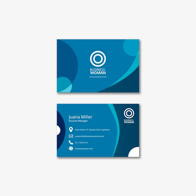 Business card template for company Free Psd