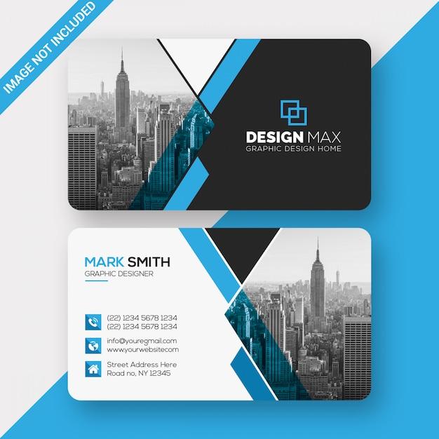 Business card template design Premium Psd