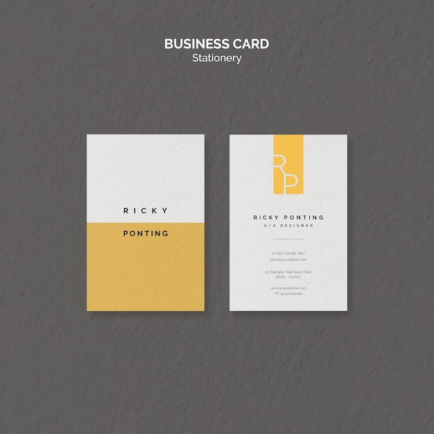 Business card template desing Free Psd