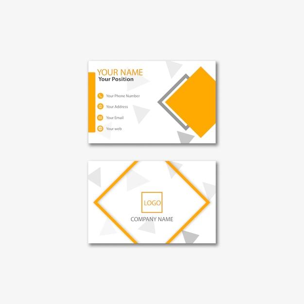 Business card template modern concept Premium Psd