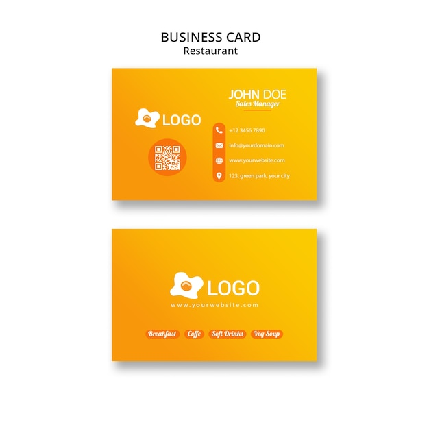 Business card template for publicity Free Psd