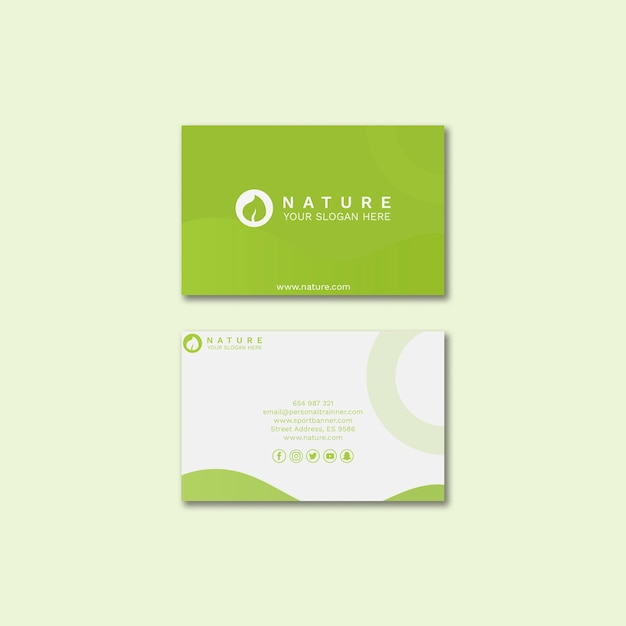 Business card template with beauty concept Free Psd