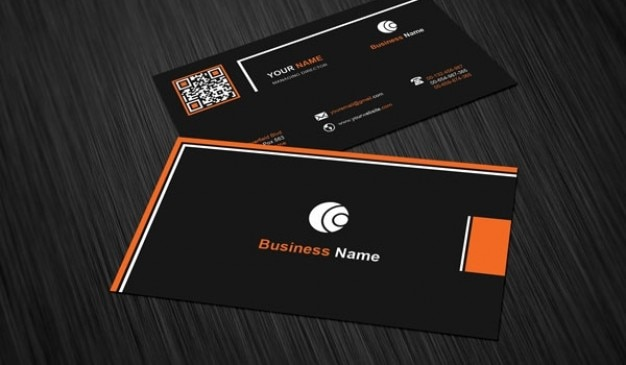 Business Card Template With Black Background Free Psd