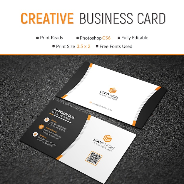 Business card template PSD file | Premium Download
