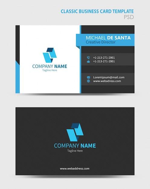 Business card template psd file premium download business card template premium psd reheart Choice Image
