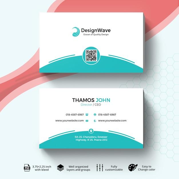 Business card template Premium Psd