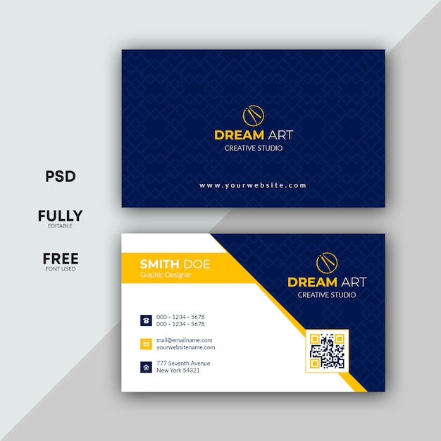 Business card templates Premium Psd
