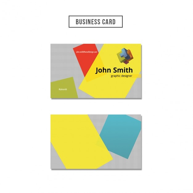 Business card with colored shapes psd file free download for Business cards shapes