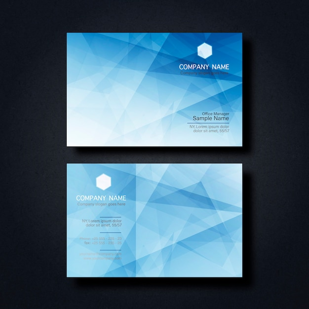 Business card with geometric figures Free Psd