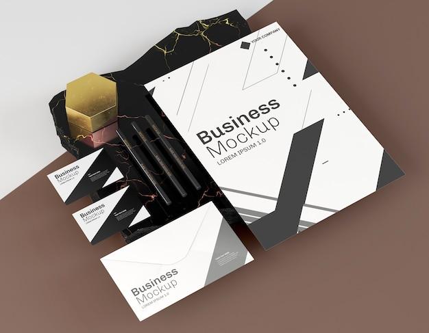 Макеты визиток и другие канцелярские товары Premium Psd