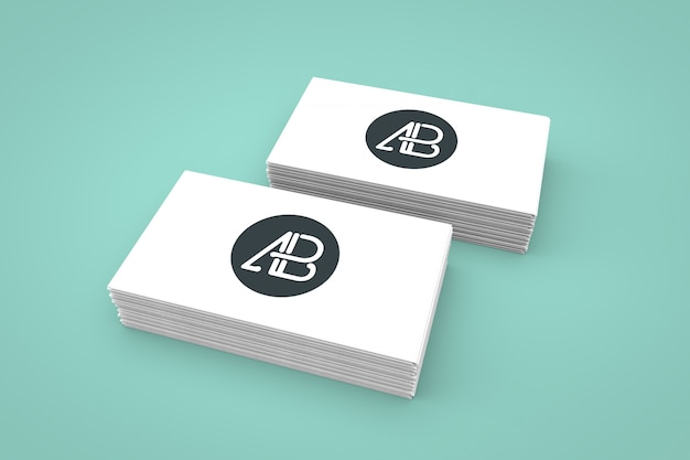 Business cards mock up Free Psd
