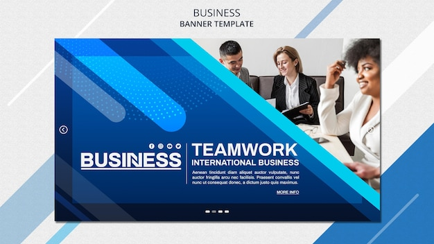 Бизнес-концепция баннер шаблон Бесплатные Psd
