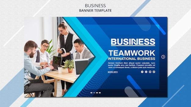 Бизнес-концепция баннер шаблон Premium Psd