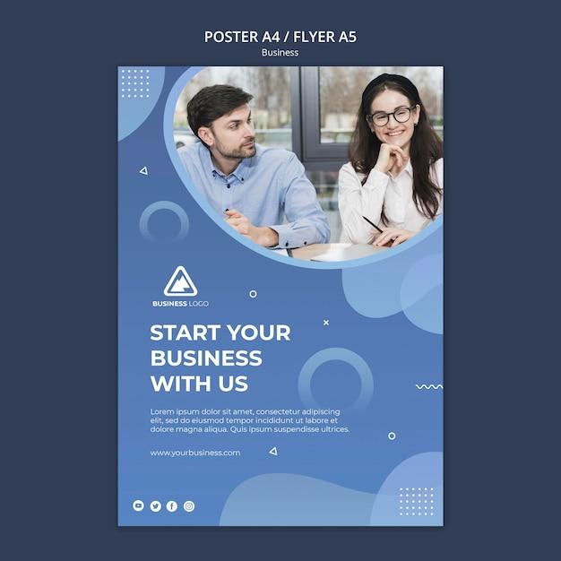 ビジネスコンセプトのチラシデザイン 無料 Psd