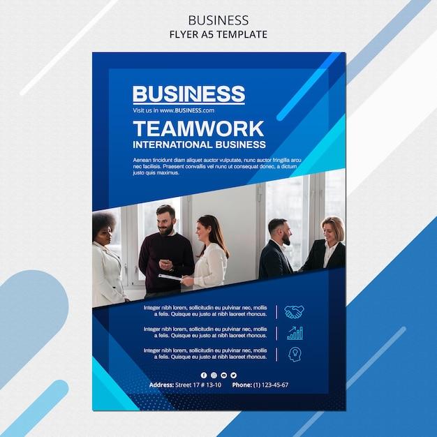 Шаблон флаера бизнес-концепции Бесплатные Psd