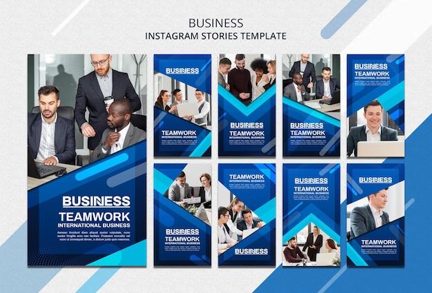 Бизнес-концепция instagram рассказы шаблон Premium Psd