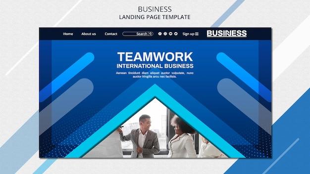 Шаблон целевой страницы бизнес-концепции Бесплатные Psd