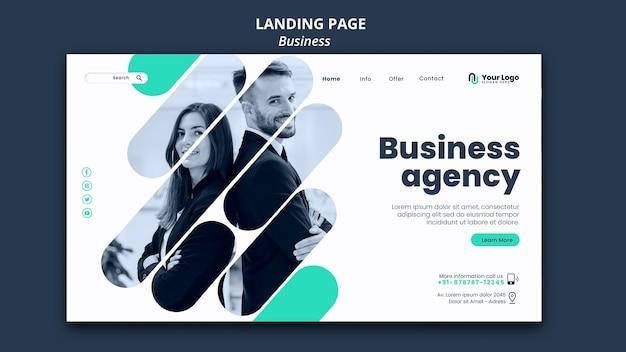 ビジネスコンセプトのランディングページテンプレート 無料 Psd