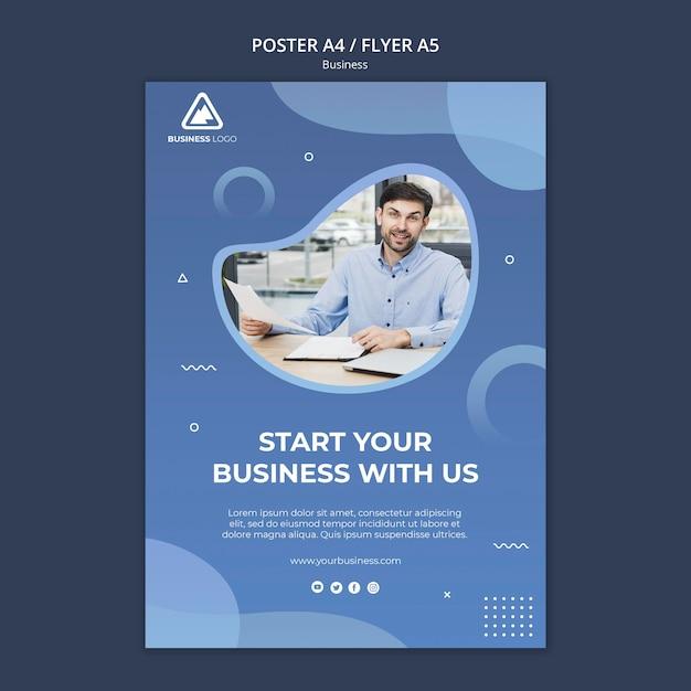 ビジネスコンセプトポスターデザイン 無料 Psd