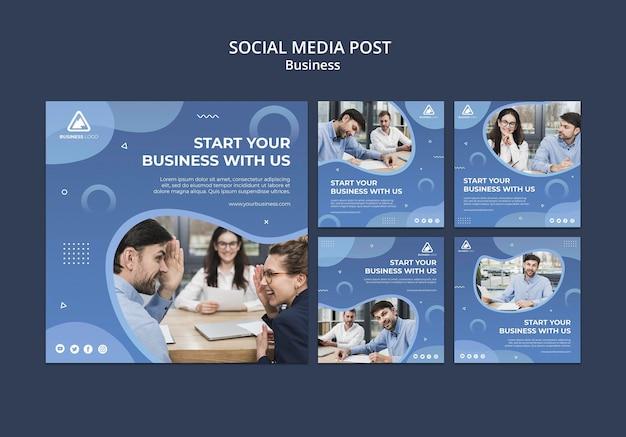 ビジネスコンセプトのソーシャルメディアの投稿 無料 Psd