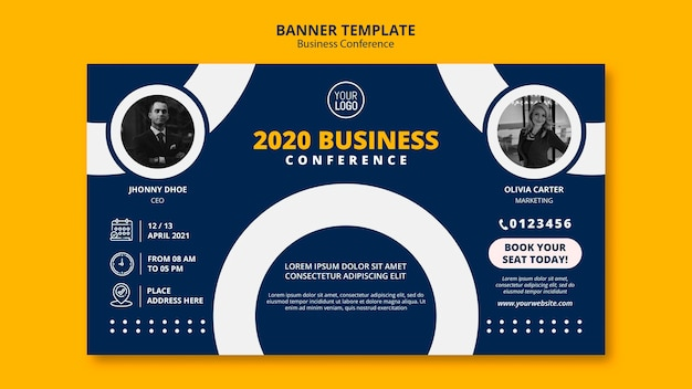 Free Psd Business Conference Concept Banner Template