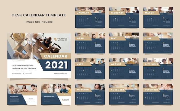 Шаблон дизайна шаблона календаря бизнес-стола Premium Psd