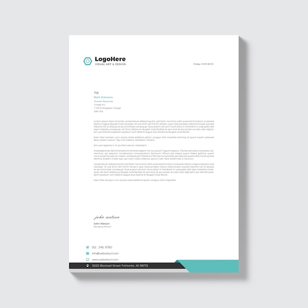 business document template