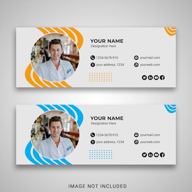 Business email signature template Premium Psd