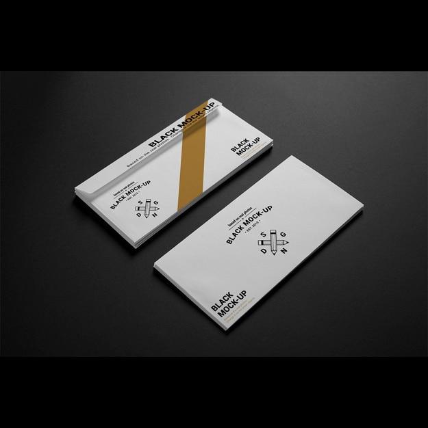 Business envelope mock up design Free Psd