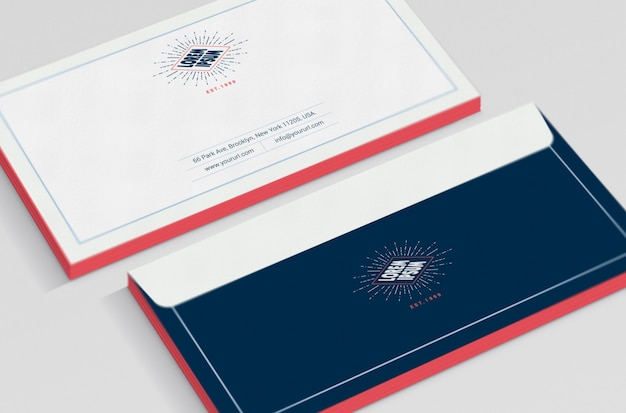 Business envelope mock up Free Psd