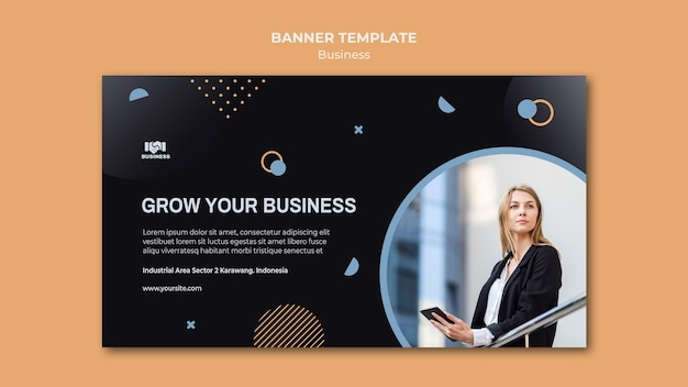 Business event banner template Free Psd
