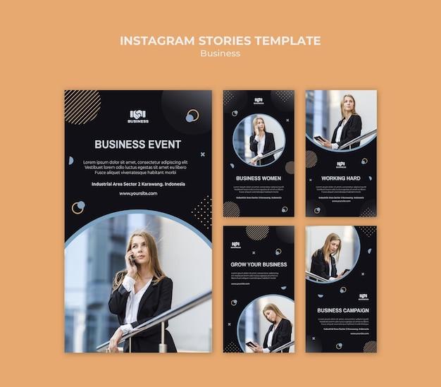 Business event instagram stories template Premium Psd