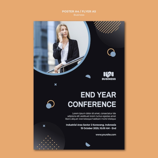 Business event poster template Free Psd