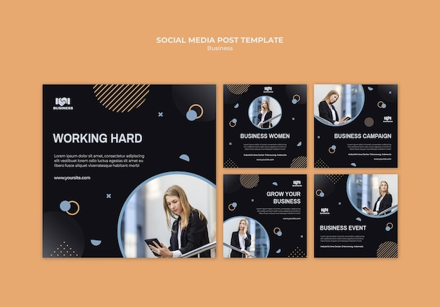 Business event social media post template Free Psd