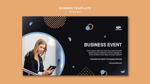 Business event template banner Free Psd