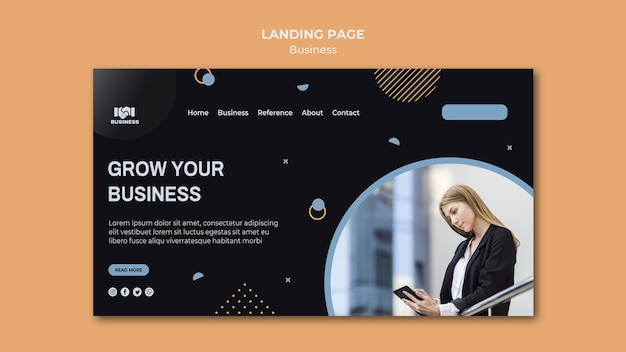 Business event template landing page Premium Psd